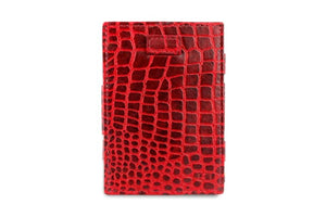 Cavare Magic Wallet Card Sleeves Croco - Croco Burgundy - 2