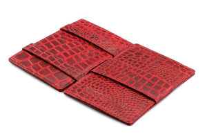 Cavare Magic Wallet Card Sleeves Croco - Croco Burgundy - 3