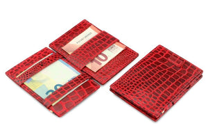Cavare Magic Wallet Card Sleeves Croco - Croco Burgundy -