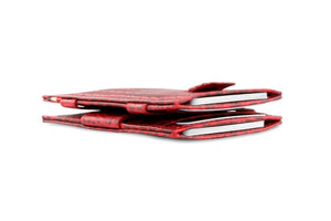 Cavare Magic Wallet Card Sleeves Croco - Croco Burgundy - 6