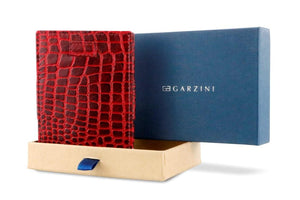 Cavare Magic Wallet Card Sleeves Croco - Croco Burgundy - 8