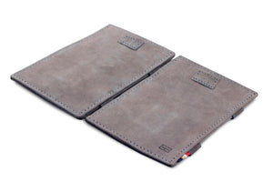Cavare Magic Wallet Card Sleeves Vintage - Metal Grey - 4