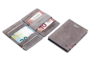 Cavare Magic Wallet Card Sleeves Vintage - Metal Grey - 5