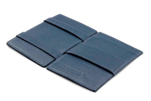 Cavare Magic Wallet Card Sleeves Nappa - Navy Blue - 3