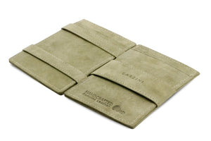 Cavare Magic Wallet Card Sleeves Vintage - Olive Green - 3