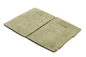 Cavare Magic Wallet Card Sleeves Vintage - Olive Green - 4