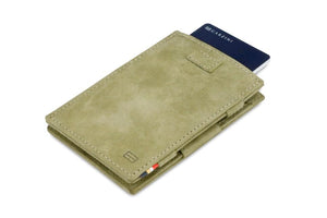 Cavare Magic Wallet Card Sleeves Vintage - Olive Green - 7