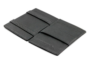 Cavare Magic Wallet Card Sleeves Nappa - Raven Black - 3