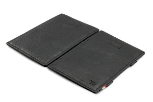 Cavare Magic Wallet Card Sleeves Nappa - Raven Black - 4