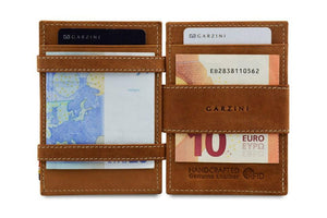 Magic Coin Wallet Garzini Essenziale - Camel Brown - 6