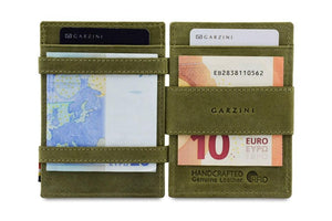 Magic Coin Wallet Garzini Essenziale - Olive Green - 6