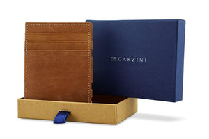 Magic Coin Wallet Garzini Essenziale - Camel Brown - 7