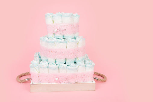 Mini-Diaper Cakes for Baby Showers Tutorial