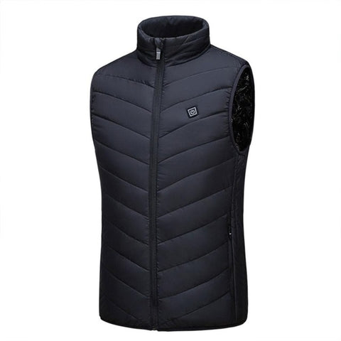 Heating Vest Washable Usb Charging Heating Warm Vest  Control Temperature Outdoor Camping Hiking Golf (Without Battery)
