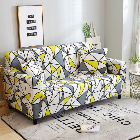 Elastic flower  printed Slipcover sofa cover