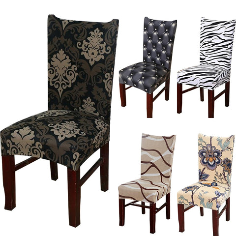 Elastic Printing  Anti-dirty Dining modern kitcchen Chair cover
