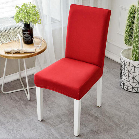 Modern Plain Color Spandex Stretch Elastic Wedding Chair Cover