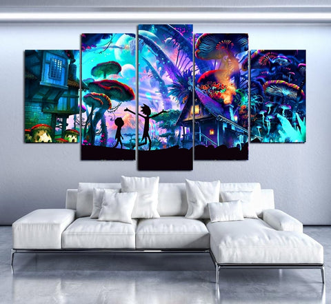 Modular Canvas Wall Art Pictures 5 Pieces