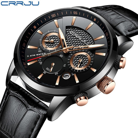 CRRJU New Fashion attractive color water proof Men Watches