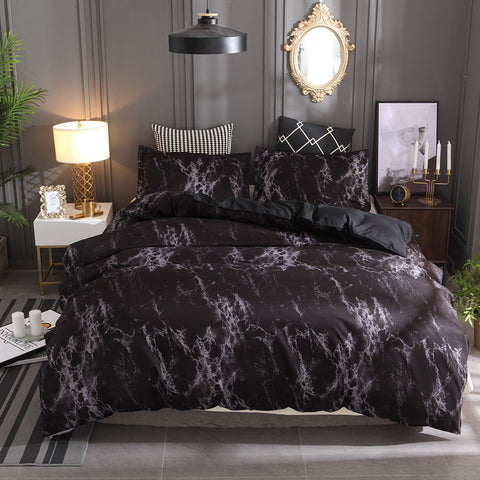 Black Marble Pattern Bedding Sets Duvet Cover