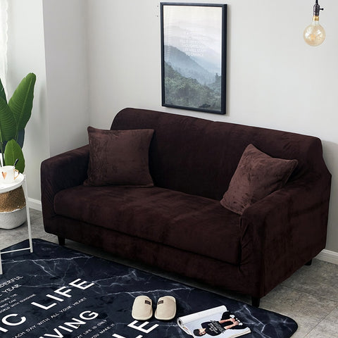 Plush Thicken Universal  Elastic Sectional Sofa Cover