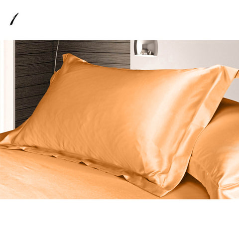 Pure Emulation Multicolor Silk Satin Single Pillow Cover