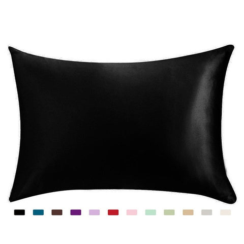Standard Satin Silk Soft Mulberry Plain Pillowcase Cover