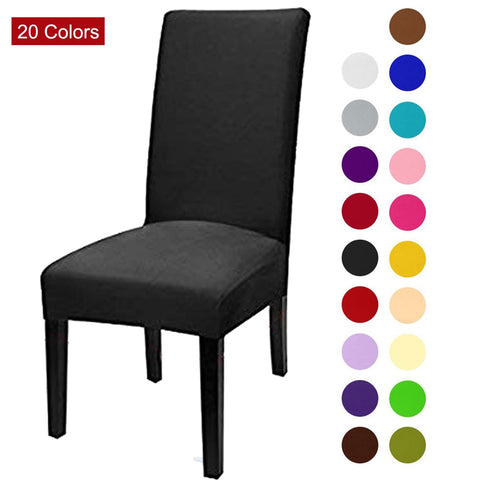 Color Spandex Stretch Elastic Chair Covers