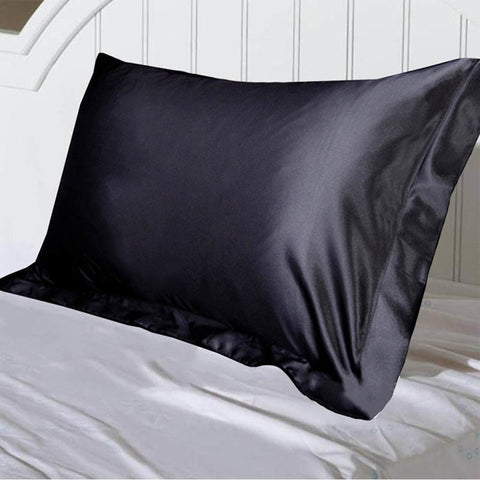 Junejour Emulation Silk Satin  Luxury Pillow Cover