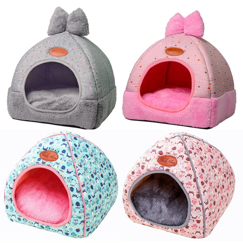 Small Pet Dog House Kennel Bed Mat Cat Blanket