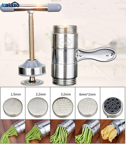 Manual Noodle Maker Press Pasta Machine Crank Cutter Fruits Juicer