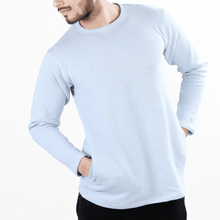Load image into Gallery viewer, Aqua Super-Soft Sweatshirt w/ Micro Dots