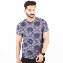 Load image into Gallery viewer, Blue Paisley T-Shirt