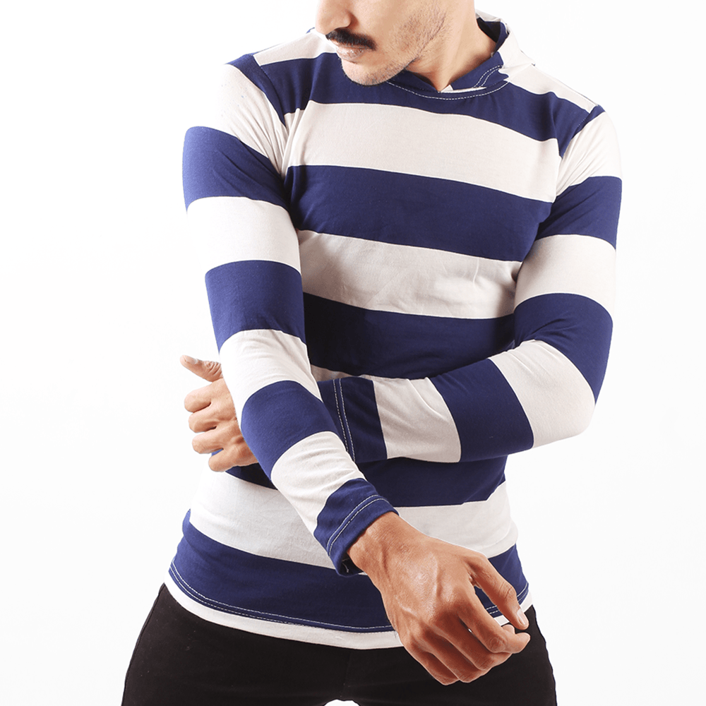 Stripy Hooded T-Shirt