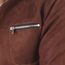 Load image into Gallery viewer, Raw Brown Suede Leather Jacket