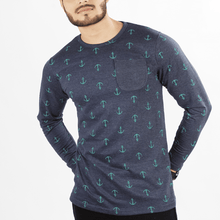 Load image into Gallery viewer, Sailor Sweatshirt w/ Anchor Print