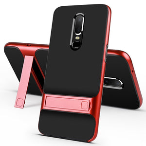 OnePlus 6 case Oneplus 5T cover anti-shock hybrid soft TPU &hard bumper case for Oneplus 7 Pro 6T 5 3 3T stand phone cover shell