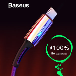 Baseus 5A USB Type C Cable for Huawei Mate 20 Pro P20 Lite Supercharge USB C Fast Charging Cable Type-C Cable for Huawei P30 Pro