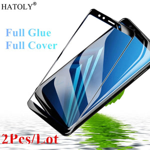 2Pcs For Samsung Galaxy A7 2018 Glass Tempered Glass for Samsung Galaxy A7 2018 Screen Protector for Samsung Galaxy A50 A40 A30