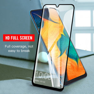 Full Cover Screen Protector For Samsung Galaxy A50 M30 A30 A60 A40 A20 M20 M10 A7 A9 2018 A70 A80 A90 Protective Tempered Glass