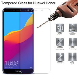 Tempered Glass For Huawei Honor 7A 7X 7C 7I 6X 6C 6A Pro Transparent Screen For Huaweel Honor 7 6 Protector Film,Not Full Cover