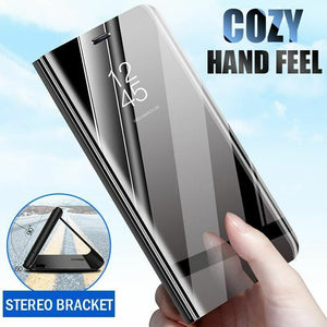 Case For Sony Xperia 1 XZ3 Case Mirror Smart Clear View PU Leather Kickstand Flip Cover For Sony Xperia XZ3 Xperia 1 Case