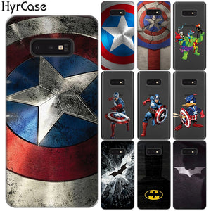 Marvel Hero Captain America Soft TPU Case For Coque Samsung Galaxy S10 Plus S10 E 5G A10 A30 A50 M10 M20 M30 Silicone Cover