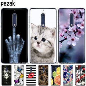 Silicone case for Nokia 1 2 2.1 3 3.1 5 5.1 plus 2018 soft tpu back cover shockproof Coque bumper housing new design