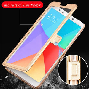 View Window Cover for Nokia 1 2 2.1 3 3.1 5 5.1 6 6.1 7 Plus 8 2018 X5 X6 fundas leather flip case for Nokia 5.1 6.1 2018 Plus