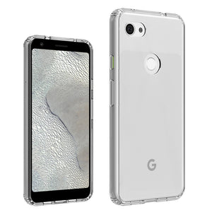 Soft TPU Frame + Transparent Hard PC Back Cover Shockproof Crystal Clear Case For Google Pixel 3A / Google Pixel 3A XL Capa
