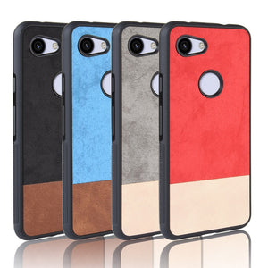 For Google Pixel 3a XL Case Cover For Google Pixel 3a Pixel3a XL case Two colors PC+TPU Luxury leather back shell cover case