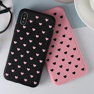 Love Heart Phone Case For Samsung Galaxy A80 A70 A60 A50 A40 A30 A20e A10 M10 M20 M30 Soft Cover For Samsung S10 Plus S10e Case