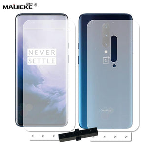 2PCS Soft HD Front & Back TPU nano Screen Protector Film For Oneplus 7 pro oneplus 7 Full Cover Hydrogel Film with install tool