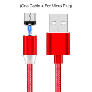2A 2.4A Magnetic USB Cable Fast Charging USB Type C Cable Magnet Charger Data Charge Micro USB Cable Mobile Phone Cable USB Cord